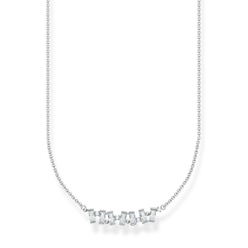 Thomas Sabo Necklace White Stones Silver