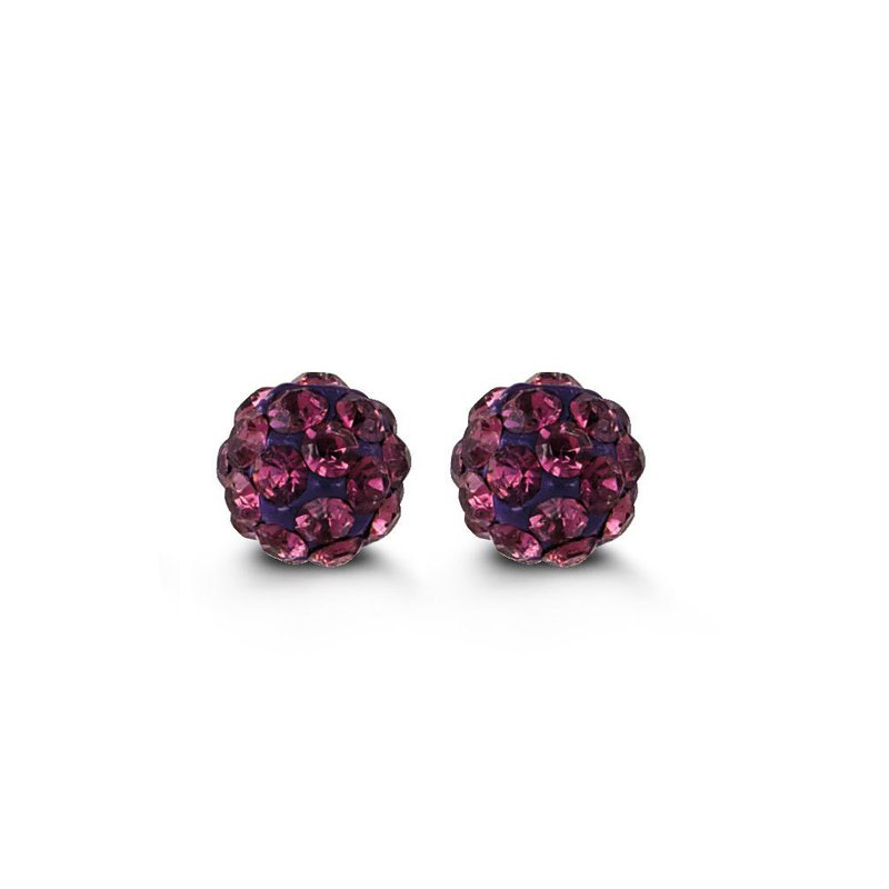 The  Collection Purple Baby Studs
