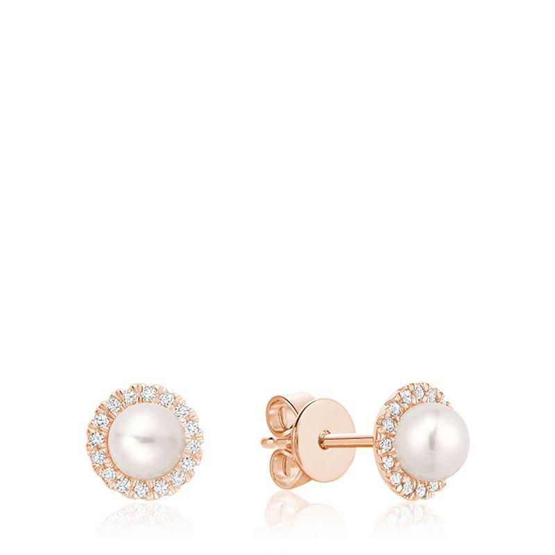 RNB Bijoux Jewellery Freshwater Pearl & Diamond Earrings