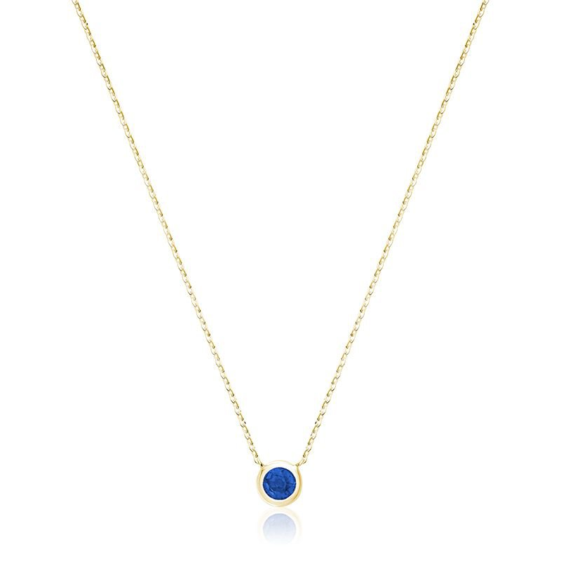 RNB Bijoux Jewellery Bezel Set Sapphire Pendant