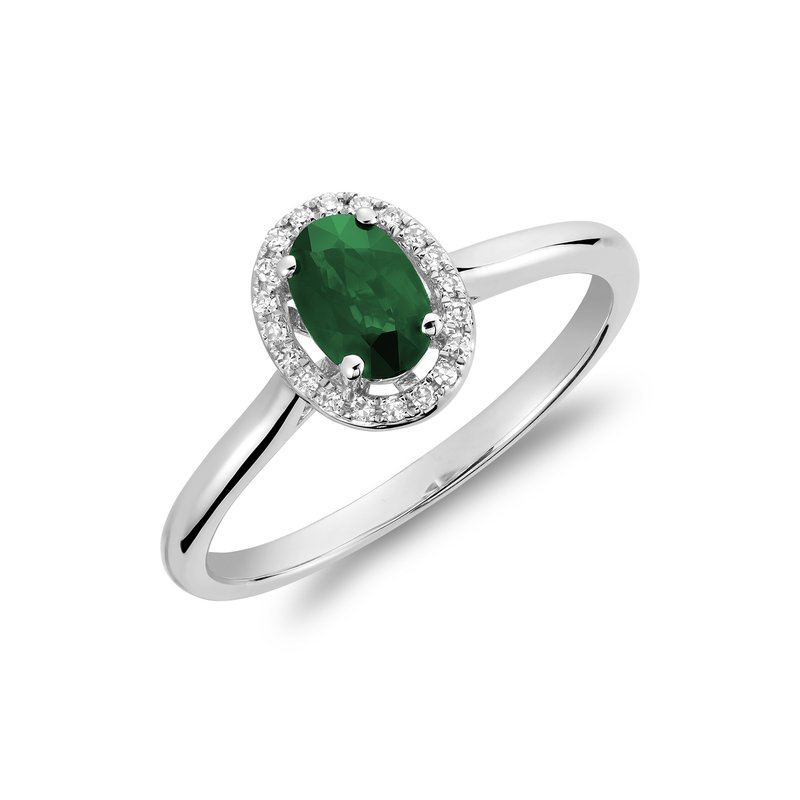 RNB Bijoux Jewellery Emerald And Diamond Ring