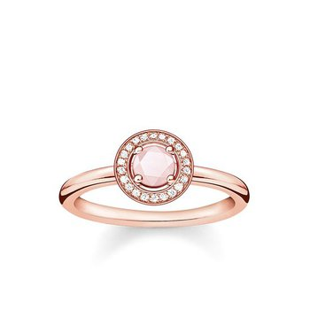 """Sterling Silver Rose Plated Diamond and Rose Quartz Ring """"Light of Luna"""""""