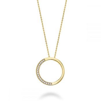Half Circle Diamond Pendant