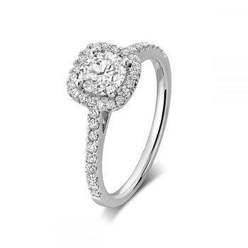 Cushion Mount Diamond Engagement Ring
