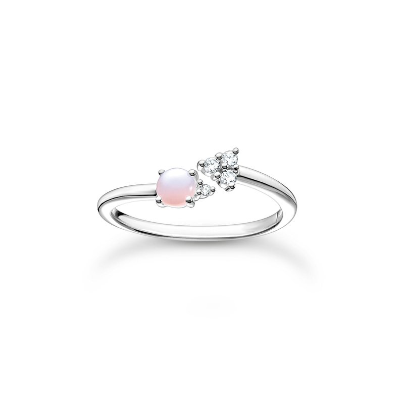 Thomas Sabo Ring Arrow Opal- Coloured Stone Shimmering Pink