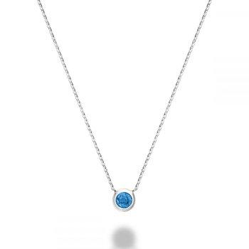 Blue Topaz Bezel Pendant