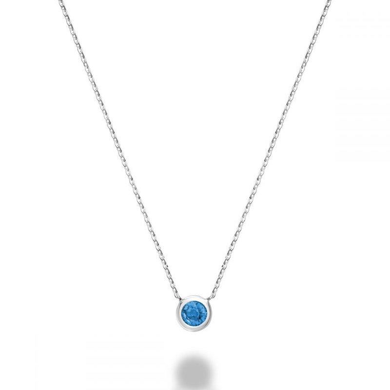 RNB Bijoux Jewellery Blue Topaz Bezel Pendant