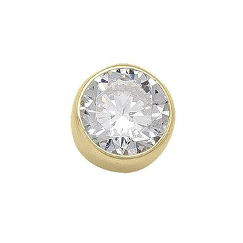 6 mm Bezel Stud Earrings