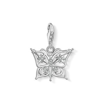Butterfly Star & Moon Silver Charm