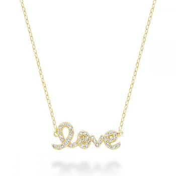 "Mini ""Love"" Diamond Necklace"