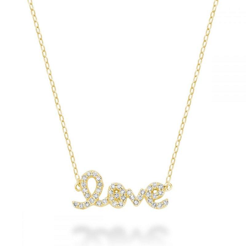 "RNB Bijoux Jewellery Mini ""Love"" Diamond Necklace"