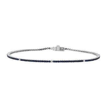 Blue Sapphire Tennis Bracelet