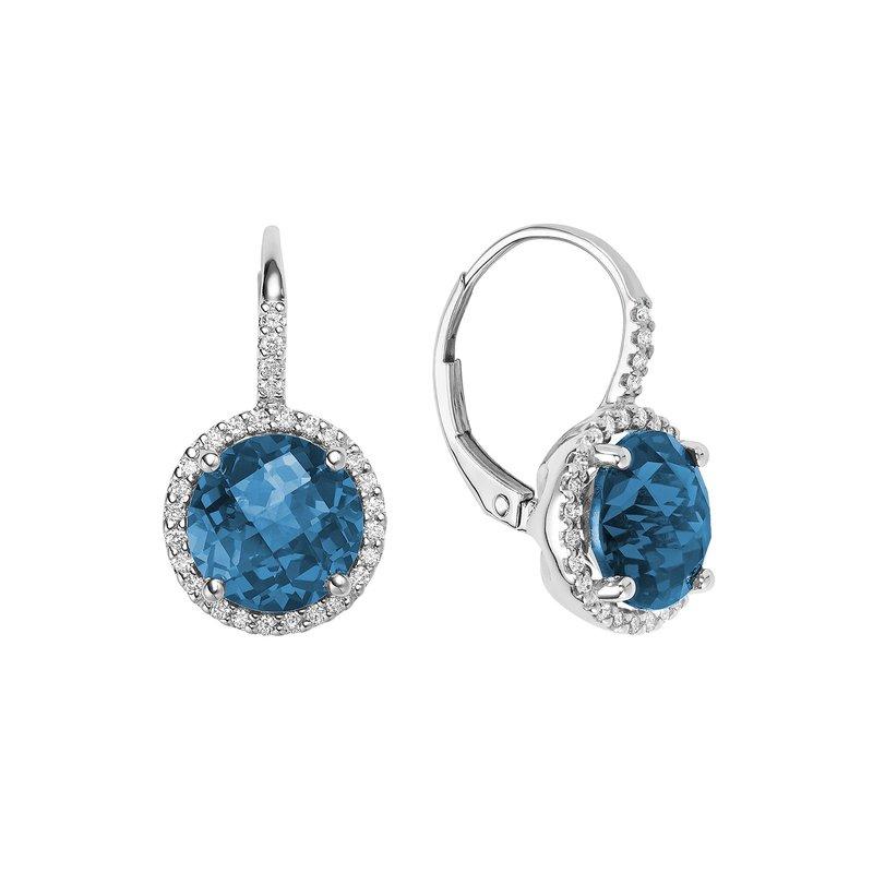 RNB Bijoux Jewellery Blue Topaz And Diamond Earrings