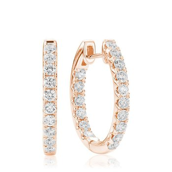 Oval Inside-Out Diamond Earrings