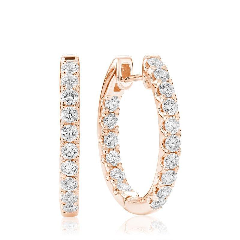 RNB Bijoux Jewellery Oval Inside-Out Diamond Earrings