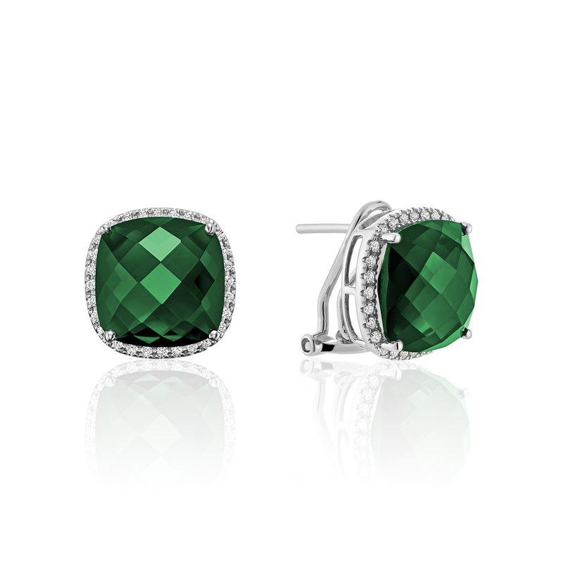 RNB Bijoux Jewellery Created Emerald and Diamond Earrings
