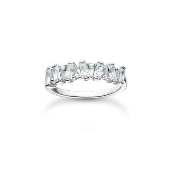 Ring White Stones Silver
