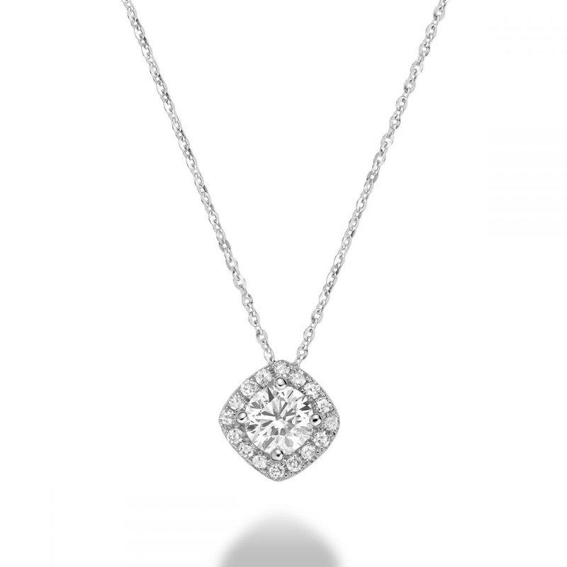 RNB Bijoux Jewellery Cushion Cut Diamond Pendant