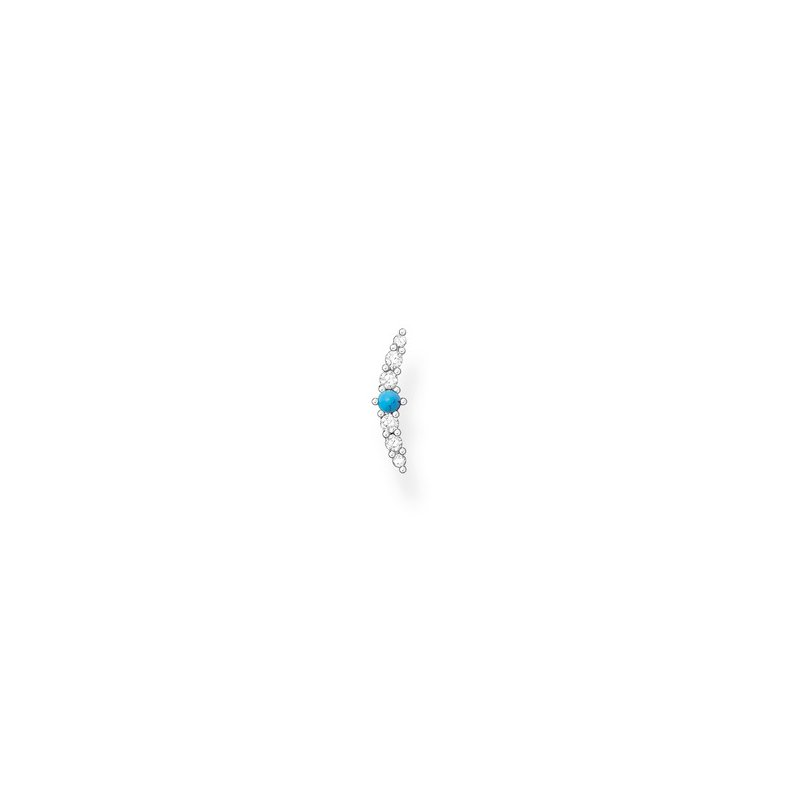 Thomas Sabo Single Stud Earring Silver Turquoise Zirconia