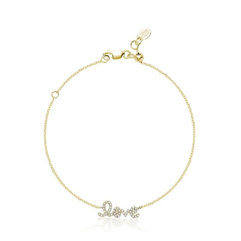 "RNB Bijoux Jewellery Mini ""Love"" Diamond Bracelet"