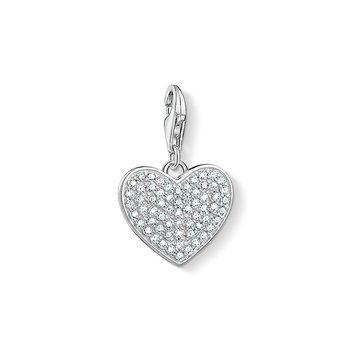 Pave Heart Charm Pendant