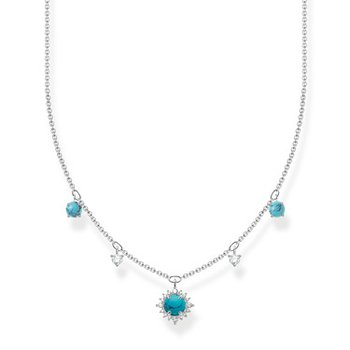 Necklace Silver Turquoise Zirconia