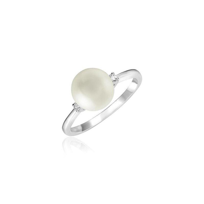 RNB Bijoux Jewellery Pearl And Diamond Ring