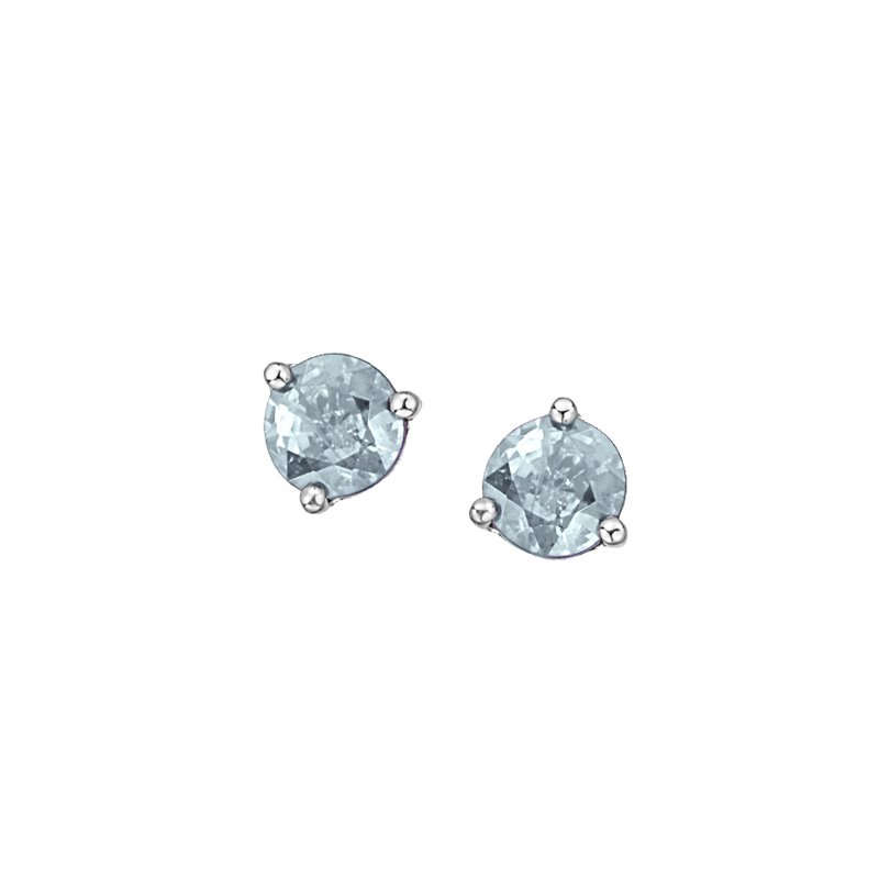 The Collection Aquamarine Stud Earrings
