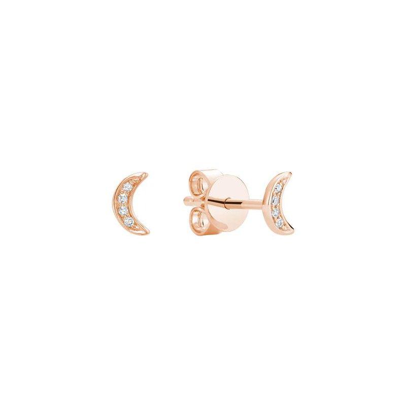 RNB Bijoux Jewellery Illusion Diamond Moon Stud Earrings