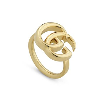 GG Running yellow gold ring