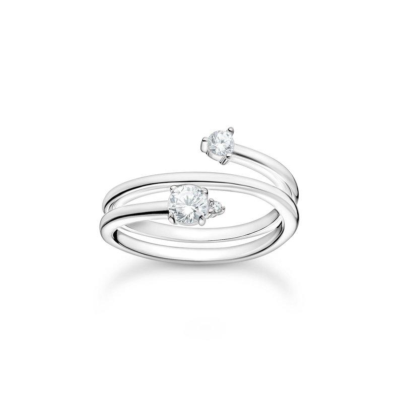 Thomas Sabo Ring Arrow White Stones Silver
