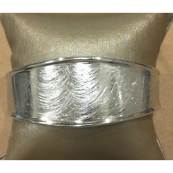 Cuff Style Bracelet With Etched Finish