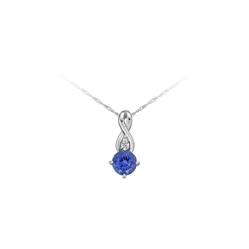 The Collection Tanzanite And Diamond Pendant