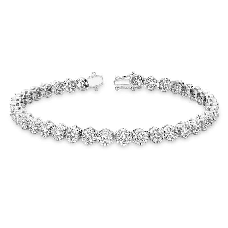 RNB Bijoux Jewellery Cluster Diamond Tennis Bracelet