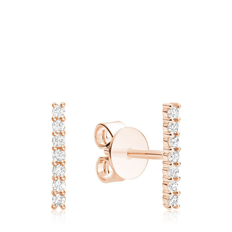RNB Bijoux Jewellery Diamond Bar Stud Earrings