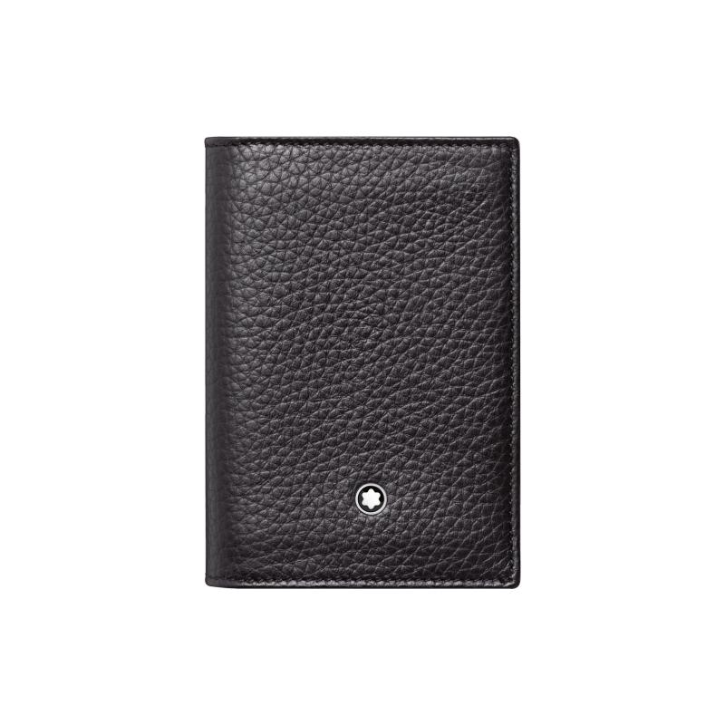 Montblac Meisterstuck Black Leather Soft Grain Business Card Holder