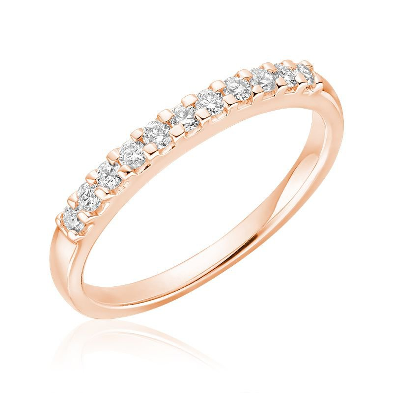 RNB Bijoux Jewellery Pave Semi Eternity Diamond Band