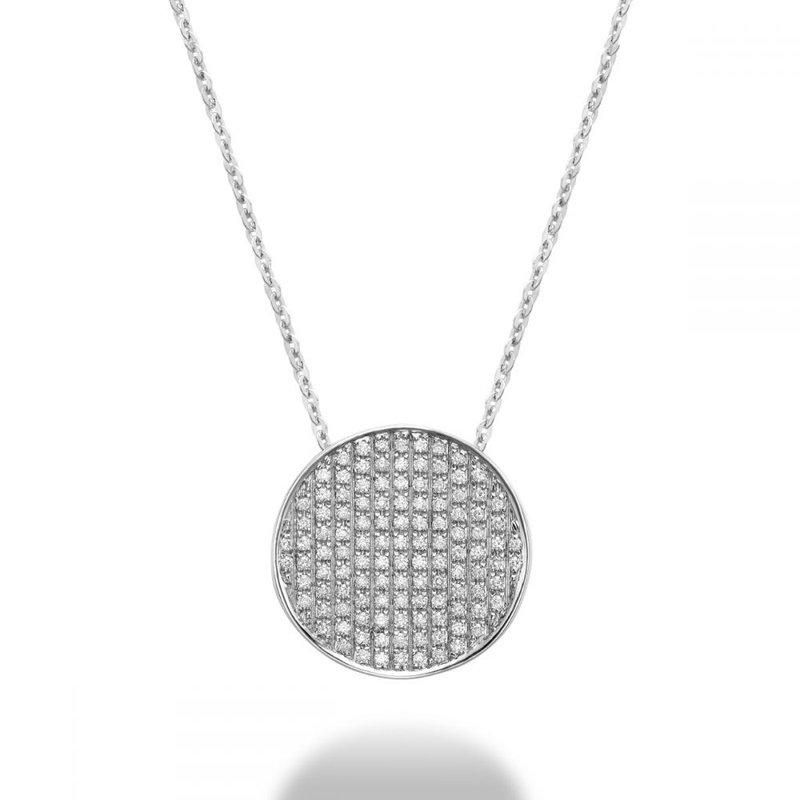 RNB Bijoux Jewellery Curved Disk Diamond Pendant