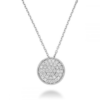 Circle Diamond Milgrain Pendant