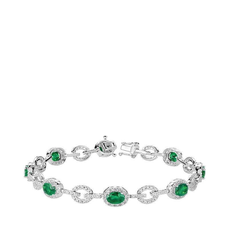 RNB Bijoux Jewellery Emerald & Diamond Bracelet