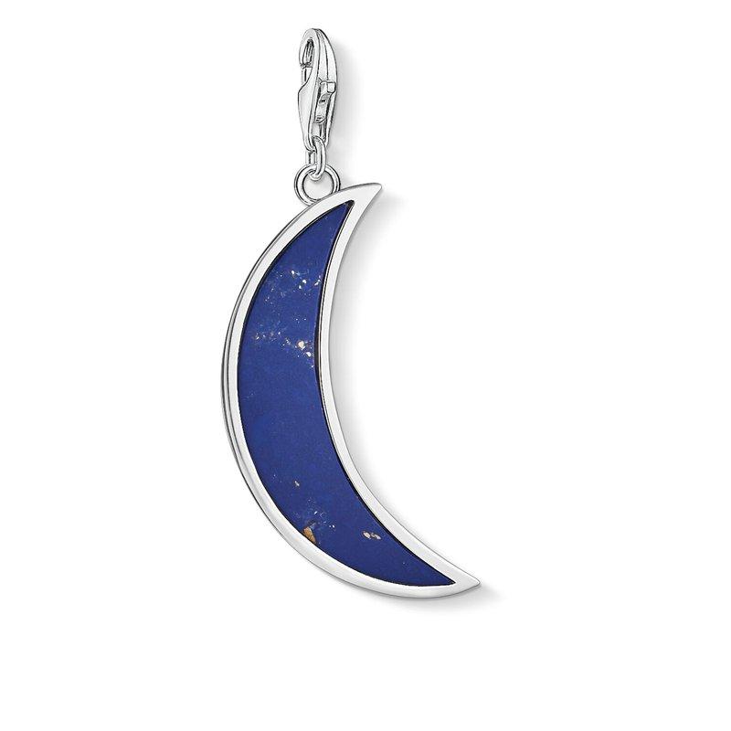 Thomas Sabo Charm Pendant Moon Blue Dark