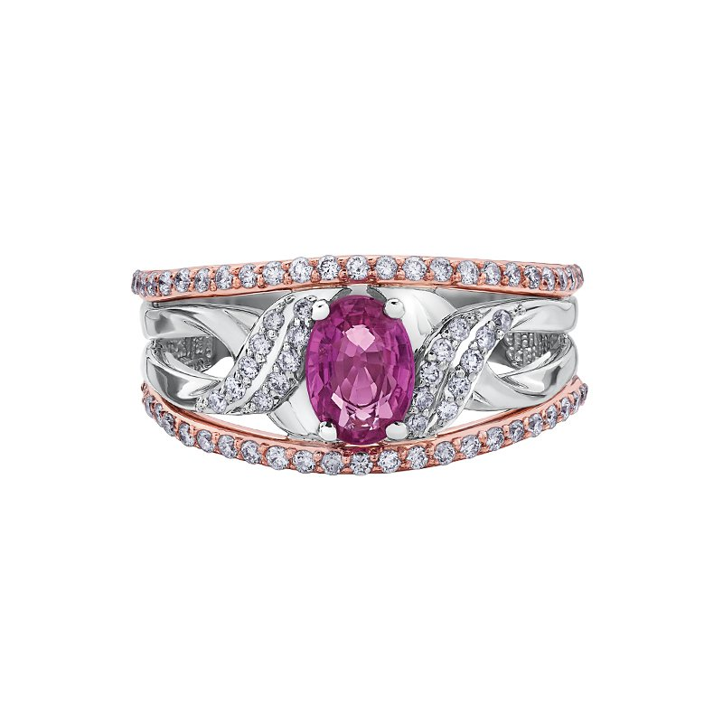The  Collection Pink Sapphire and Diamond Ring