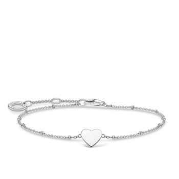 Bracelet Heart With Dots Silver