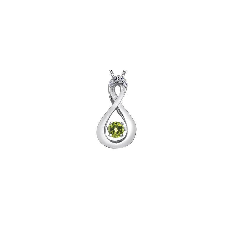 The Collection Peridot and Diamond Pulse Pendant