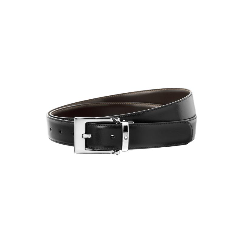 Montblanc Wave Reversible Calf Black/ Brown Belt