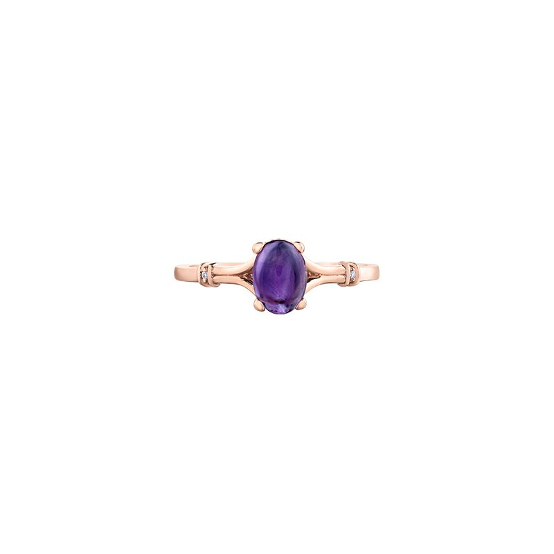 The Collection Amethyst and Diamond Ring
