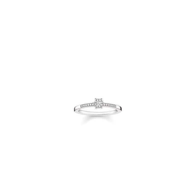 """Thomas Sabo Sterling Silver  Ring """"Sparkling Circles"""""""