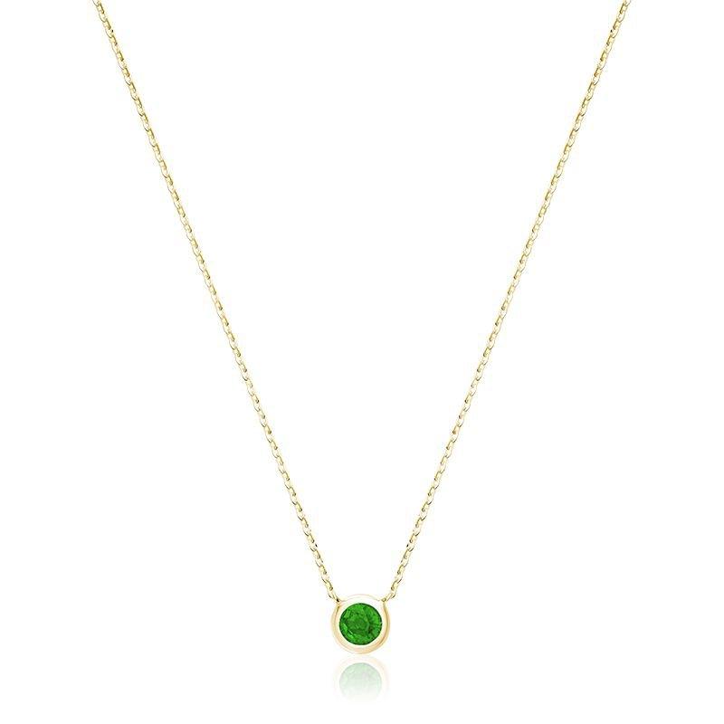 RNB Bijoux Jewellery Bezel Set Emerald Necklace