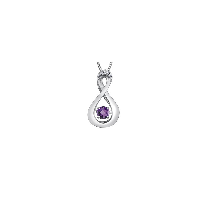The Collection Amethyst and Diamond Pulse Pendant