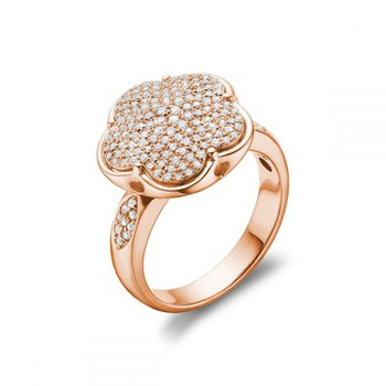 Flower Mount Diamond Fashion Ring